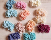 Resin flower cabouchons