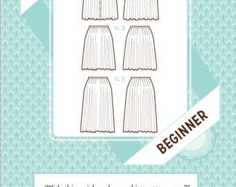 Sale!  Zinnia skirt pattern (C1027) - Colette Patterns