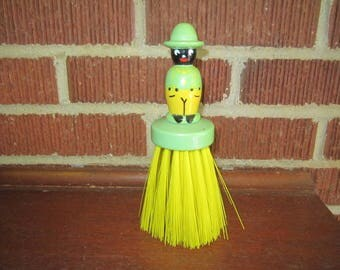 Vintage 1940s/50s Black Americana Wooden Doll Whisk Broom
