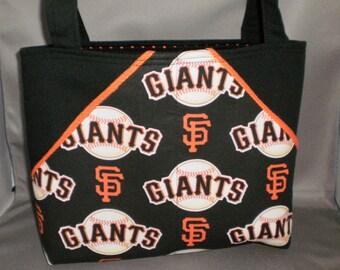 Fabric Tote Bag - Purse - Giants - Sassy Pockets - San Francisco - Baseball