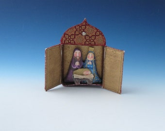 Nativity , Nativity Ornament, Nativity Diorama, Nativity Ornaments, Nativity Ornament Diorama