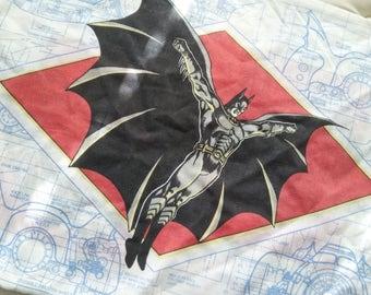 Vintage DC Comics BATMAN FOREVER Pillow Case from 1992  Reclaimed Bed Linen