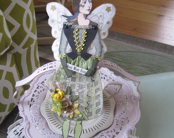 Mother's Day Paper Doll - Paper Doll Mom - Victorian Paper Doll - Character Constructions Paper Doll