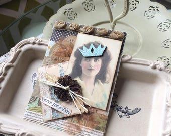 Vintage Lady Birthday Card - Handmade Victorian Card