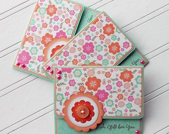 All Occasion Gift Card / Money Holder with Matching Embellished Envelope - Sweet Pea Blossoms