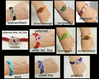 Sea Glass Elastic Wrap Bracelets, can be Worn as Headbands, Your Choice, Discounts for More than One