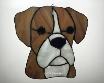 Boxer in Stained Glass