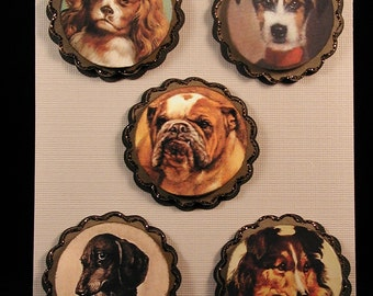 Vintage Dog Paper Embellishments Set #3
