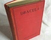 Vintage Dracula Book by Bram Stoker and Published by Grosset & Dunlap