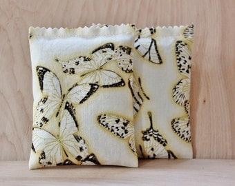 Lavender Scented Sachets, Yellow and Black Butterfly Scent Bags, Gift for Women