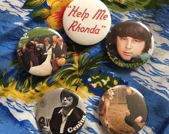 Beach Boys Brian Wilson Button Pack