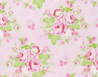 Rambling Rose from Tanya Whelan Rambling Rose on Pink  YES!! Continuous fabric cuts and shipping is combined