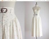 ONE DAY SALE high waisted rosebud midi skirt