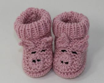 50% OFF SALE Baby Piggy Boots knitting pattern by madmonkeyknits - instant digital file pdf download knitting pattern