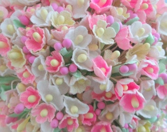 Forget Me Not Pinks and Creams Flower Bouquet