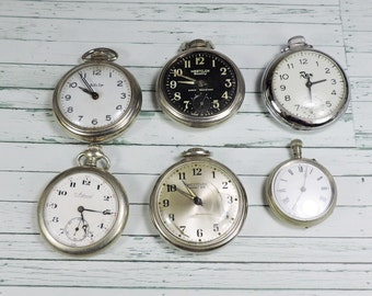 Vintage Pocketwatches, 6 Pieces