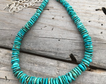 Sterling Silver Turquoise Necklace Handmade in USA by Joy Kruse