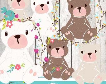 Cute Teddy Bear clipart - Osito - COMMERCIAL USE OK
