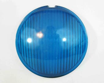 Vintage Theater Stage Lamp Lens in Light Blue/Green by Century Lighting Inc. Circa 1950's - 1960's.