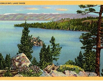 Vintage Lake Tahoe Postcard - Emerald Bay (Unused)
