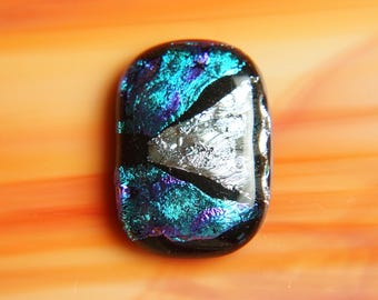 Dichroic Fused Glass Focal Cab Bead Pendant Necklace