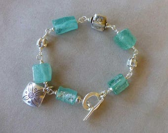 Roman Glass, Roman Glass Jewelry, Ancient Roman Glass Bracelet, Roman Glass Bracelet, Mother's Day, Gifts for Her