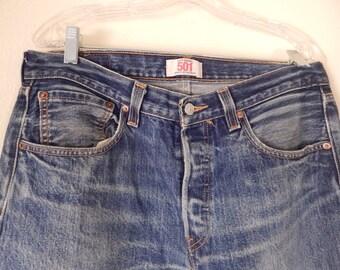 levis original 501 jeans, straight leg, button fly,size 34-32      #350