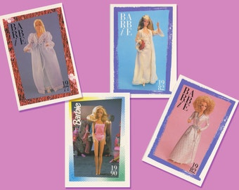 4 Barbie Bedroom Diorama Collection Cards  Accessory - Barbie Doll Honeymoon Night Gowns - Free Shipping