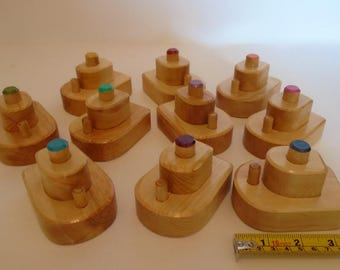 Buy 10- Pay for 9, Wooden Small Boat Lot, Bathtub Simple Wood Toy, Handmade Waldorf inspired Toddler Toy, Kids gift, Jacobs Wooden Toys