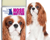 Cavalier King Charles Spaniel NOSE BUTTER® All Natural Balm for Dry Dog Noses Choice: 1.25 oz Slide Top Tin with 4 Options of Cavalier Label