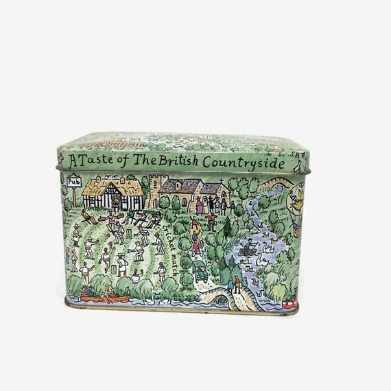 Vintage Tin Box - A Taste of the British Countryside - Armstrong & Claydon - Bedford, England