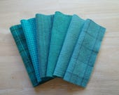 Turquoise - Aqua - Teal Hand Dyed Felted Wool Fabrics Perfect for Rug Hooking - Wool Applique - Quilting - Sewing by Quilting Acres