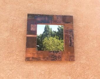Copper Patchwork Mirror