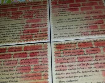Diagon Alley |  Harry Potter Upcycled Book Coasters
