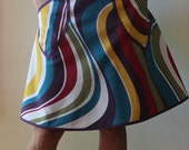 Wrap Skirt, retro, swirls, pockets (one size fits most small - large)