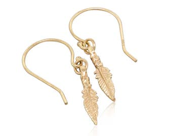 Bohemian earrings or boho earrings: these feather earrings are the perfect gift idea, gift for her and gift for mom