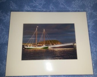 "Sunrise at Bar Harbor, Maine      8"" x 10"" matted print"