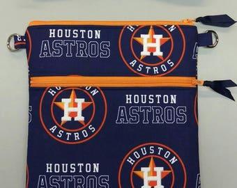 Houston Astros MLB cross body messenger bag, tablet case handmade