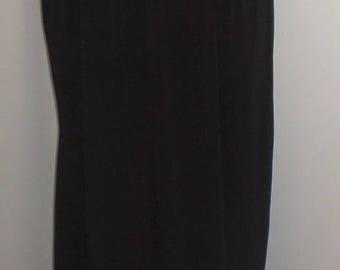 Plus Size Skirt, Coco and Juan, Plus Size Lagenlook, Black, Traveler Knit, Women's Skirt, Boho Skirt, Skirt  Size 1 fits 1X,2X