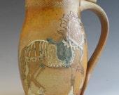 Stein Renaissance Horse  in Mountains Salt Glazed