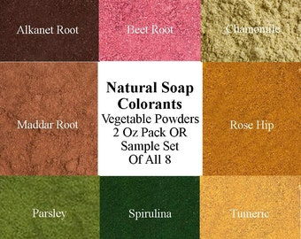 Natural Soap Colors - Sample Set Soap Colorants - Soap Supplies - Vegetable Powders