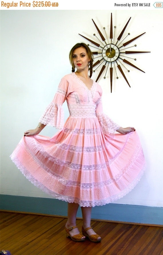 Sale 50 off vintage 50s mexican wedding by for Mexican wedding dresses for sale