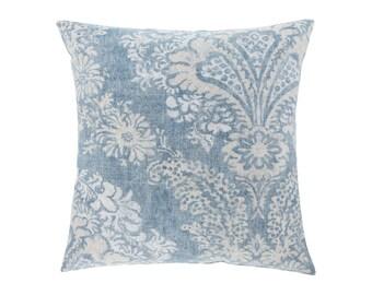 BLUE Pillow Cover.Decorator Pillow Cover.Home Decor.Large Print. HAMILTON DENIM. Cushions. Cushion.Pillow. Premier Prints