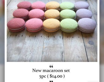 Etsy Pretend food Felt food Play food  Tokyo Kawaii Sweets Macaroon New Spring Colored (5pc)
