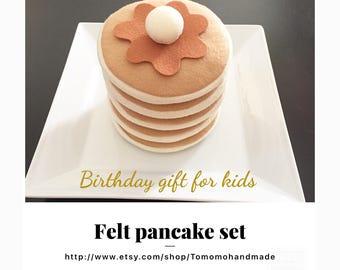 Etsy Pretend food Felt food Play food Pancake set ( 5pc)