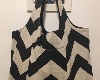 Tote Bag XL - Canvas Chevron