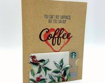 Coffee Gift Card Holder/Coffee Thank You/Thank You Card/Gift Card Holder/Coffee Lover/Card for Friend/Teacher Gift/Coffee/Coffee Humor
