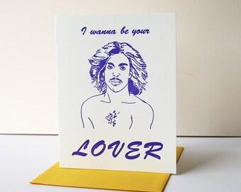 Letterpress Valentine's Day I love you Card - Prince Lover