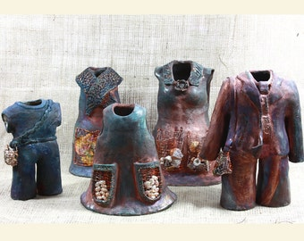 Raku Ceramic Sculpture. TERRA FIRMA FAMILY - Living Green. Raku Sculptures. Hand Built  Ceramics. Raku Ceramics.