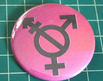 Transgender button. Profits for charity.